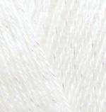 Пряжа для вязания Alize Angora Gold Simli (Ализе Ангора Голд Симли) Цвет 450 жемчуг