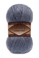 Пряжа для вязания Alize Angora Gold Simli (Ализе Ангора Голд Симли) Цвет 665 светлый джинс