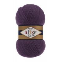Пряжа для вязания Alize Angora Real 40 (Ализе Ангора Реал 40) Цвет 111 сливовый