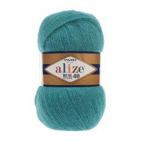 Пряжа для вязания Alize Angora Real 40 (Ализе Ангора Реал 40) Цвет 164 лазурный