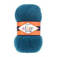 Пряжа для вязания Alize Angora Real 40 (Ализе Ангора Реал 40) Цвет 17 петрольный