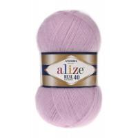 Пряжа для вязания Alize Angora Real 40 (Ализе Ангора Реал 40) Цвет 198 темно розовый