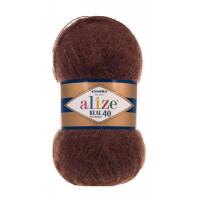 Пряжа для вязания Alize Angora Real 40 (Ализе Ангора Реал 40) Цвет 201 коричневый