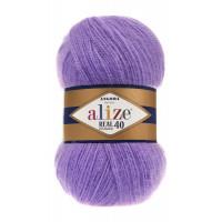 Пряжа для вязания Alize Angora Real 40 (Ализе Ангора Реал 40) Цвет 206 виолет