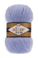 Пряжа для вязания Alize Angora Real 40 (Ализе Ангора Реал 40) Цвет 221 светлый джинс