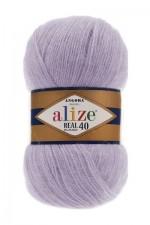 Пряжа для вязания Alize Angora Real 40 (Ализе Ангора Реал 40) Цвет 257 лаванда