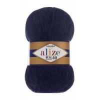 Пряжа для вязания Alize Angora Real 40 (Ализе Ангора Реал 40) Цвет 279 темный джинс