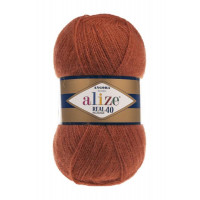 Пряжа для вязания Alize Angora Real 40 (Ализе Ангора Реал 40) Цвет 36 терракот