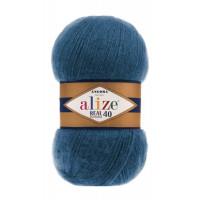 Пряжа для вязания Alize Angora Real 40 (Ализе Ангора Реал 40) Цвет 381 джинс