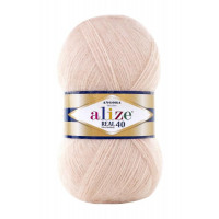 Пряжа для вязания Alize Angora Real 40 (Ализе Ангора Реал 40) Цвет 404 шампань