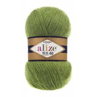 Пряжа для вязания Alize Angora Real 40 (Ализе Ангора Реал 40) Цвет 485 зеленый
