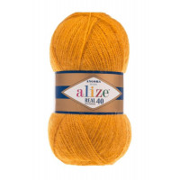 Пряжа для вязания Alize Angora Real 40 (Ализе Ангора Реал 40) Цвет 488 темно желтый
