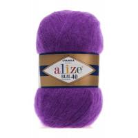 Пряжа для вязания Alize Angora Real 40 (Ализе Ангора Реал 40) Цвет 50 фуксия