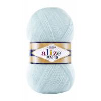 Пряжа для вязания Alize Angora Real 40 (Ализе Ангора Реал 40) Цвет 522 мята