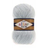 Пряжа для вязания Alize Angora Real 40 (Ализе Ангора Реал 40) Цвет 599 слоновая кость