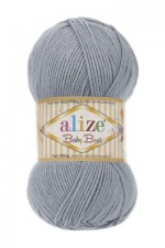 Пряжа для вязания Alize Baby Best (Ализе Беби Бест) Цвет 119 серое небо