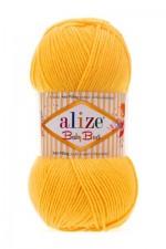 Пряжа для вязания Alize Baby Best (Ализе Беби Бест) Цвет 216 желтый