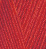 Пряжа для вязания Alize Baby Best (Ализе Беби Бест) Цвет 56 красный