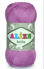 Alize Bella Цвет 144 salmon pink/темная пудра