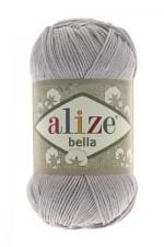 Пряжа для вязания Alize Bella (Ализе Белла) Цвет 21 серый