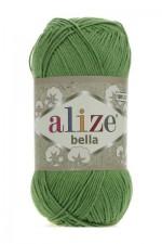 Пряжа для вязания Alize Bella (Ализе Белла) Цвет 492 зеленый