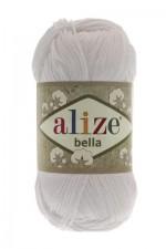 Пряжа для вязания Alize Bella (Ализе Белла) Цвет 55 белый