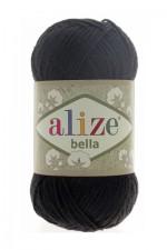 Пряжа для вязания Alize Bella (Ализе Белла) Цвет 60 черный