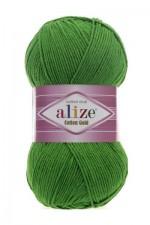 Пряжа для вязания Alize Cotton Gold (Ализе Коттон Голд) Цвет 126 зеленая трава