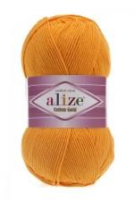 Пряжа для вязания Alize Cotton Gold (Ализе Коттон Голд) Цвет 14 темно желтый
