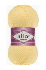 Пряжа для вязания Alize Cotton Gold (Ализе Коттон Голд) Цвет 187 светлый лимон