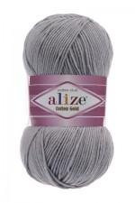 Пряжа для вязания Alize Cotton Gold (Ализе Коттон Голд) Цвет 21 серый