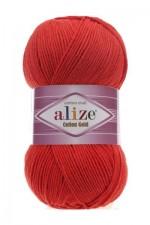 Пряжа для вязания Alize Cotton Gold (Ализе Коттон Голд) Цвет 243 красный