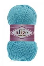 Пряжа для вязания Alize Cotton Gold (Ализе Коттон Голд) Цвет 287 светлая бирюза