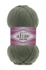 Пряжа для вязания Alize Cotton Gold (Ализе Коттон Голд) Цвет 372 хаки