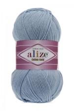Пряжа для вязания Alize Cotton Gold (Ализе Коттон Голд) Цвет 40 голубой
