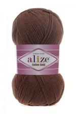 Пряжа для вязания Alize Cotton Gold (Ализе Коттон Голд) Цвет 493 каштановый