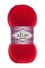 Пряжа для вязания Alize Cotton Gold (Ализе Коттон Голд) Цвет 56 красный