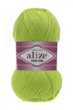 Пряжа для вязания Alize Cotton Gold (Ализе Коттон Голд) Цвет 612 зеленый неон