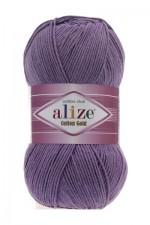 Пряжа для вязания Alize Cotton Gold (Ализе Коттон Голд) Цвет 616 фиолетовый