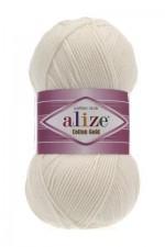 Пряжа для вязания Alize Cotton Gold (Ализе Коттон Голд) Цвет 62 кремовый