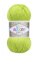 Пряжа для вязания Alize Diva (Ализе Дива) Цвет 109 лайм