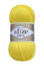 Пряжа для вязания Alize Diva (Ализе Дива) Цвет 110 ярко желтый