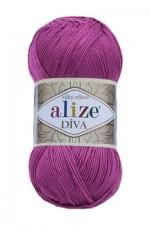 Пряжа для вязания Alize Diva (Ализе Дива) Цвет 130 фуксия
