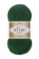 Пряжа для вязания Alize Diva (Ализе Дива) Цвет 131 хаки