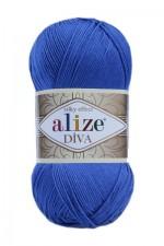 Пряжа для вязания Alize Diva (Ализе Дива) Цвет 132 василек