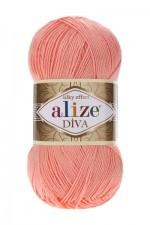 Пряжа для вязания Alize Diva (Ализе Дива) Цвет 145 абрикос