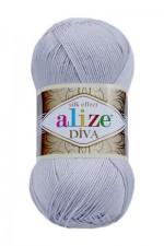 Пряжа для вязания Alize Diva (Ализе Дива) Цвет 168 морская ракушка