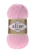 Пряжа для вязания Alize Diva (Ализе Дива) Цвет 185 детский розовый