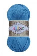 Пряжа для вязания Alize Diva (Ализе Дива) Цвет 245 бирюзовый