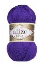 Пряжа для вязания Alize Diva (Ализе Дива) Цвет 252 фиолетовый
